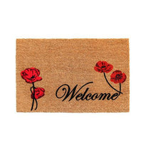 Elegant Natural Printed Coir Welcome Door Mat - OnlyMat