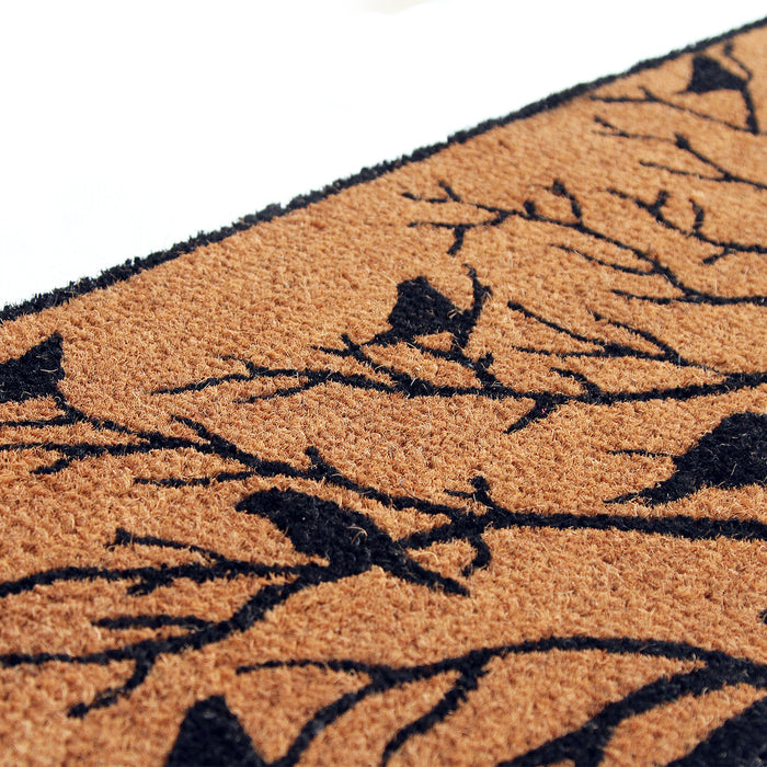 Birds & Tree Printed Natural Coir Doormat