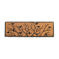 Birds and Tree Printed Natural Coir Long Doormat