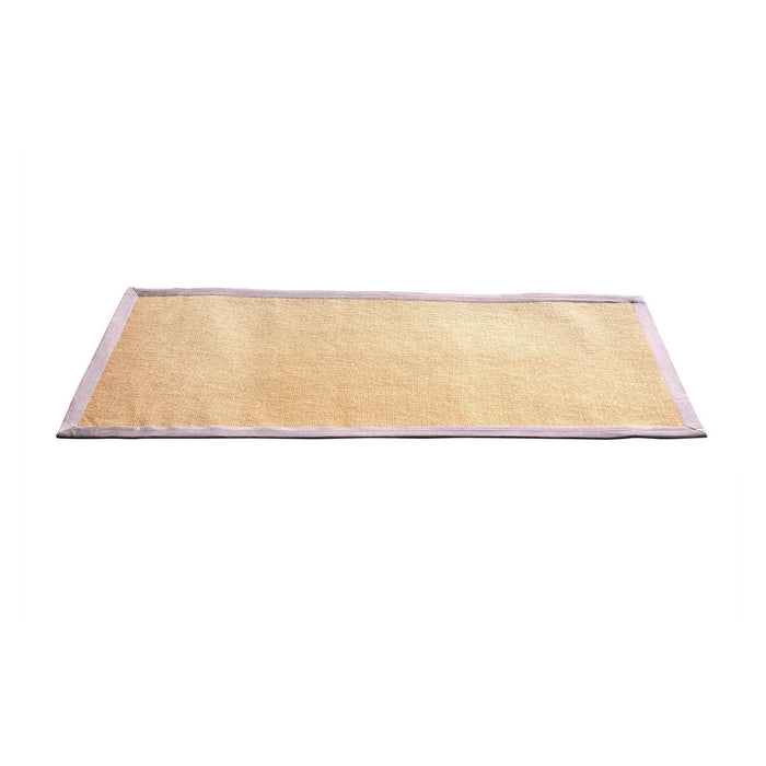 Eco-Friendly Jute Anti-Skid Yoga Mat With Cotton Border - OnlyMat