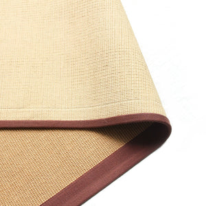Eco-Friendly Jute Anti-Skid Yoga Mat With Brown Cotton Border - OnlyMat