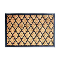 Elegant Hexagon Design Tough Rubber Moulded Coir Floor Mat - OnlyMat