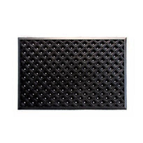 Black Hexagonal Pattern Anti-Fatigue & Safety Rubber Hollow Mat with Holes