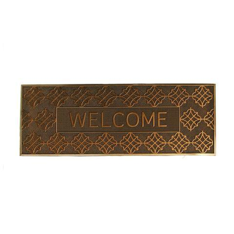 Welcome Printed Designer Rubber Pin Mat