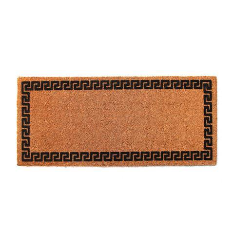 Border Printed Natural Flocked Coir Doormat
