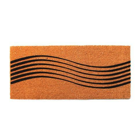 Wave Design Trendy Coir Doormat