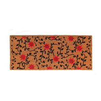 Elegant Fade Proof and Anti Slip Long Natural Coir Flock Floor Mat