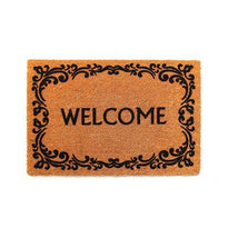 Welcome Natural Flocked Coir Doormat - OnlyMat