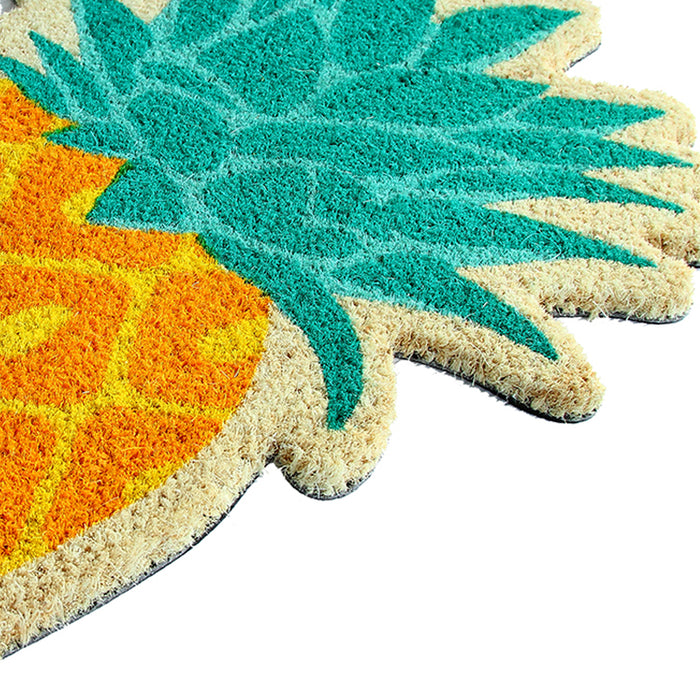 Pineapple Shape Floor Natrual Coir Anti-Slip Floor Mat