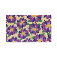 Colourful Floral Design Printed Natural Coir Floor Mat - OnlyMat