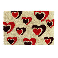 Multiple Pounding Heart Printed Coir Door Mat - OnlyMat