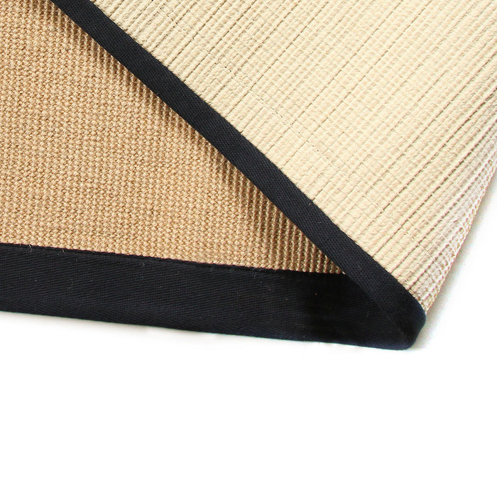 Handwoven Natural Jute Mat with Black Border - OnlyMat