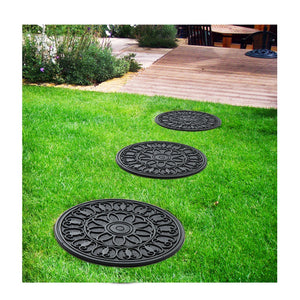 Heavy-duty Round Rubber Mat for Indoor / Outdoor Garden Pot Coaster - OnlyMat