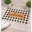 Chequered Plaid Border Printed Natural Coir Door Mat