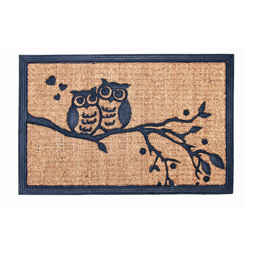 Coir Moulded Matting Mat Owl Designs