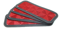 Stylish Red Anti-Slip Step and Stair Mats with Two Sided Glue Backing - OnlyMat