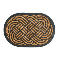 Elegant Lovers Knot Rubber Matting Door Mat