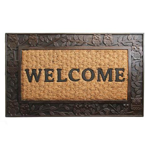Elegant Metalic Brown Brushed Coir & Rubber Welcome Mat - OnlyMat