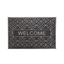 Black Rubber Pin Welcome Entrance Door Mat - OnlyMat