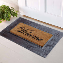 Onlymat Rubber Tray with Coir Welcome Mat Home Office Entrance 45x75 cm - OnlyMat