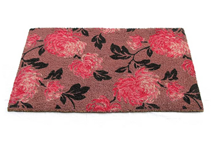 Onlymat Beautiful Pink Flower Design Entrance Door Mat - 45cm x 75cm