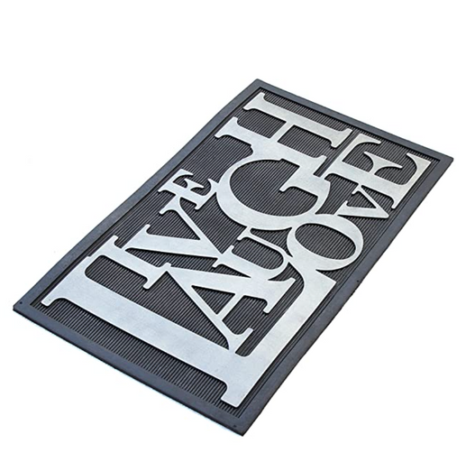 Funny LIVE LAUGH LOVE Metallic Finish Rubber  Mat