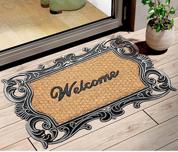 Elegant Moulded Rubber and Coir Welcome Designer Door Mat