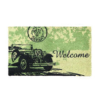 Elegant Vintage Car Printed Natural Coir Welcome Door Mat - OnlyMat