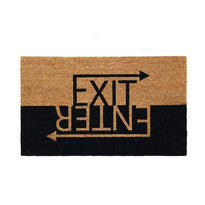 """Enter Exit"" Printed Natural Coir Door Mat - OnlyMat"