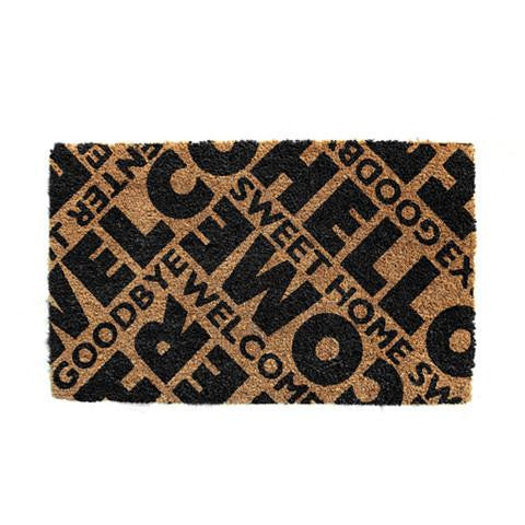"""Welcome"" and ""Sweet Home"" Printed Natural Coir Welcome Mat - OnlyMat"