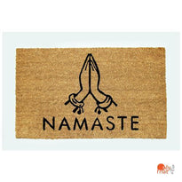 """Namaste"" printed Natural Coir Door Mat with Anti-slip Backing"
