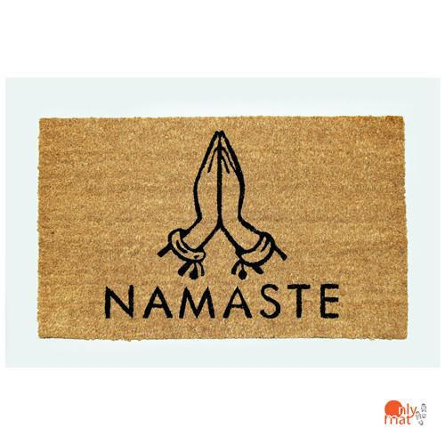 """Namaste"" printed Natural Coir Door Mat with Anti-slip Backing - OnlyMat"