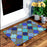 Stylish Golden Glitter printed Natural Coir Mult-colour Floor Mat - OnlyMat