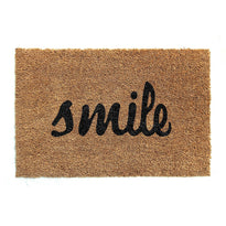 "Elegant ""Smile"" Printed Natural Coir Floor Mat"