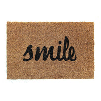 """Smile"" Printed Natural Coir Floor mat - OnlyMat"