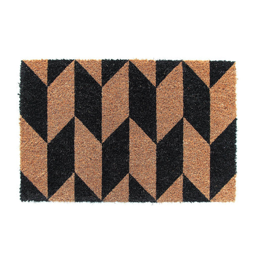 Brown Black Natural Coir Doormat