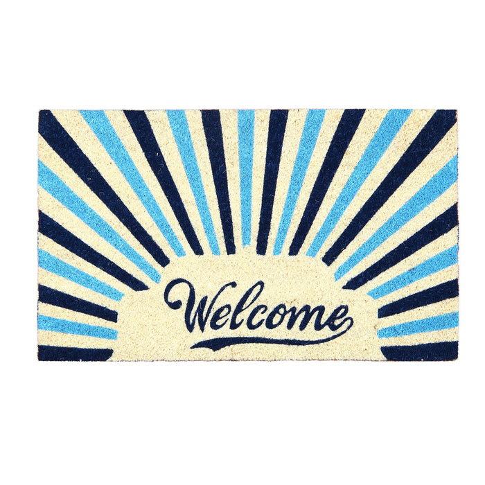 "Retro ""Welcome"" Printed Natural Coir Entrance Mat - OnlyMat"