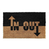 Natural Printed  Coir Doormat 'IN OUT' Design - OnlyMat