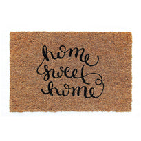 """Home Sweet Home"" Printed Natural Coir Door Mat"