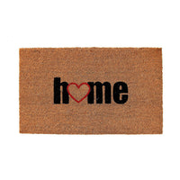 "Elegant ""Home"" Printed Natural Coir Floor Mat - OnlyMat"