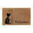 Cat Printed Elegant Welcome Door Mat