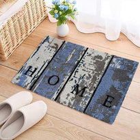 """Home"" Printed Multi Colour Printed Natural Coir Door Mat - OnlyMat"