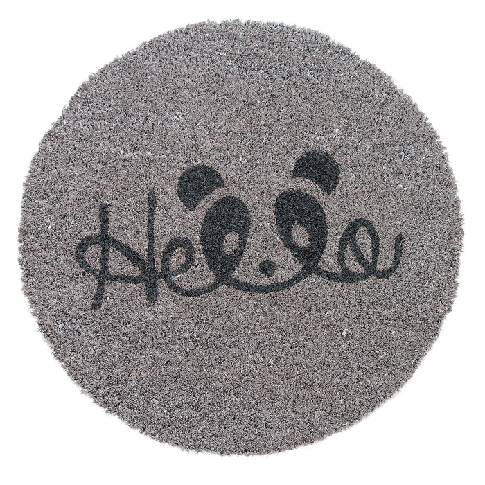 Onlymat Quotes  Printed Natural Coir  Shape mat-Grey