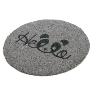Onlymat Quotes  Printed Natural Coir  Shape mat-Grey - OnlyMat