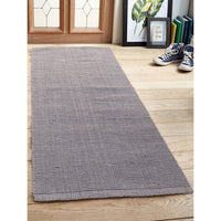 Light Grey Jute Runner Rug Eco-Friendly Handwoven Carpet for Bedside Living Room Home Decor