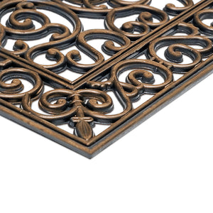 Copper Finish Rubber Iron Grill Mat 60cm x 120cm