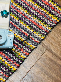 Retro Bohemian Handwoven Multi Colour Jute Rug