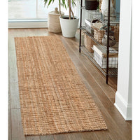 Natural HandSpun Jute Runner Rug Eco-Friendly Handwoven Carpet for Bedside Living Room Home Decor