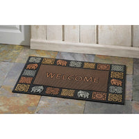 Tri-Colour Rubber Pin Welcome Entrance Door Mat