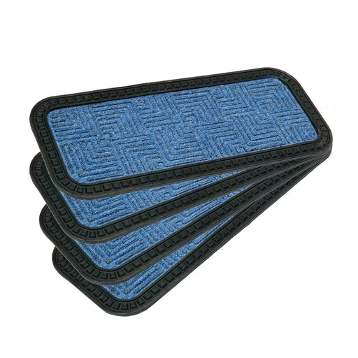 Stylish BLUE Anti-Slip 25cm x 60cm Step Stair Mats with Anti-Slip Backing